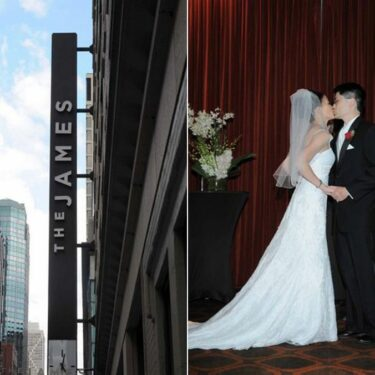 city chic wedding at the james hotel