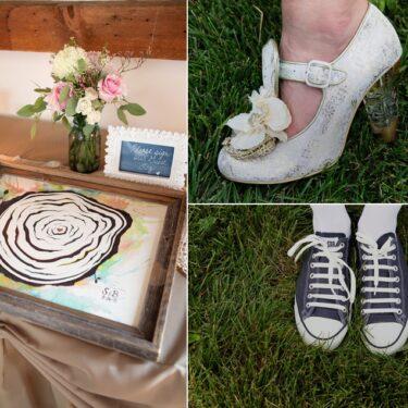 outdoor barn wedding at byron colby barn