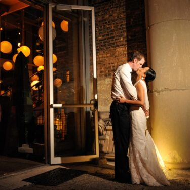 urban wedding at architectural artifacts