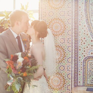 outdoor wedding at garfield park conservatory