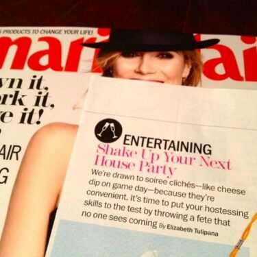 marie claire feature: DIY handmade house party ideas