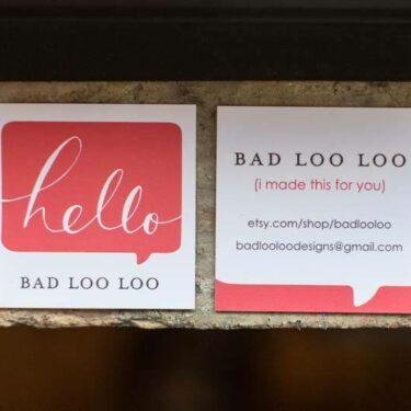 bad loo loo etsy shop launch