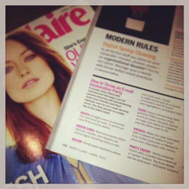 marie claire feature: april 2013