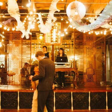 carnival chic wedding at salvage one
