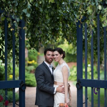 tented wedding at the chicago botanic garden