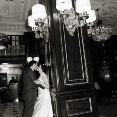 michigan avenue wedding at the blackstone hotel