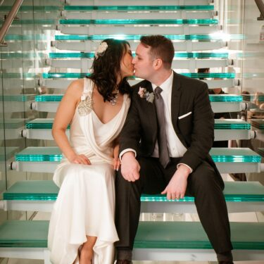 modern chicago wedding at chez chicago