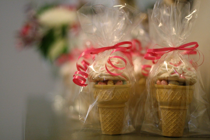 ice cream bridal shower party favors