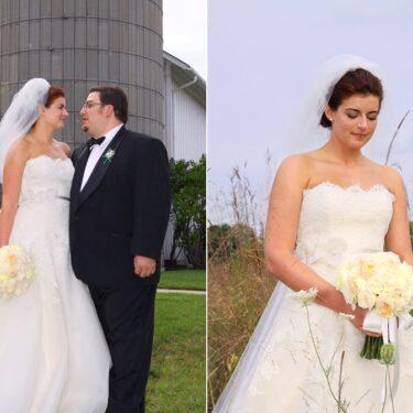 lake wedding at byron colby barn