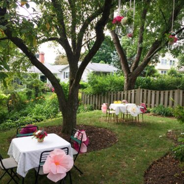 an ice cream social, backyard bridal shower