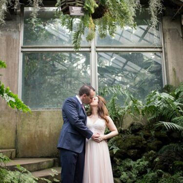 winter garden wedding at a new leaf