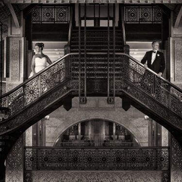 glamorous rookery building wedding