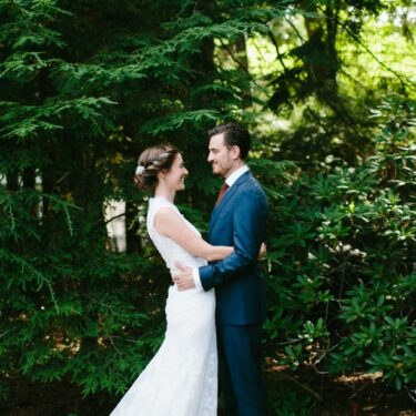 rustic backyard michigan wedding