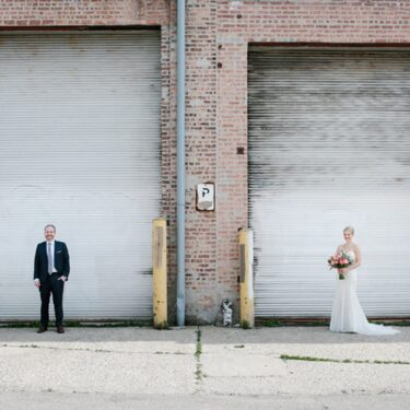 fun and fearless wedding at lacuna artist lofts