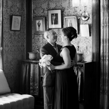 intimate wedding ceremony at glessner house