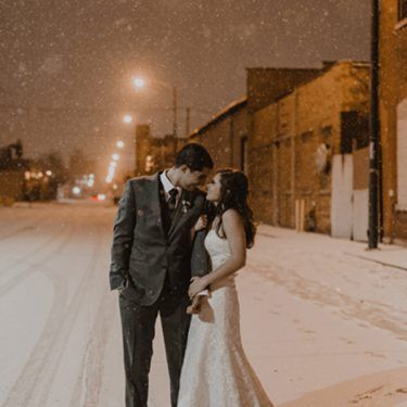winter wonderland wedding at kitchen chicago