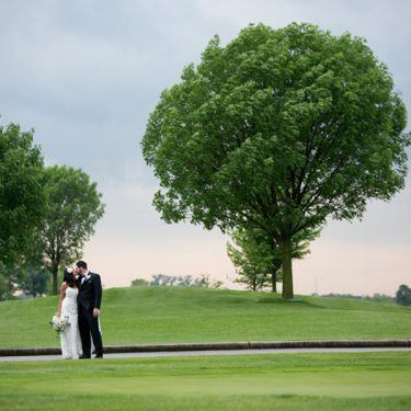 golden glam wedding planned at bolingbrook golf club