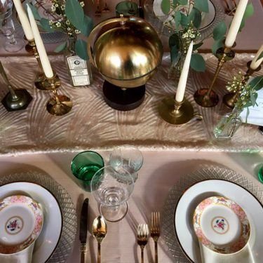 eclectic granny wedding decor inspiration