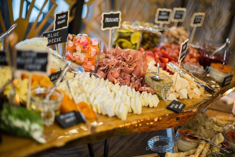 Awesome food spread at a Chicago party