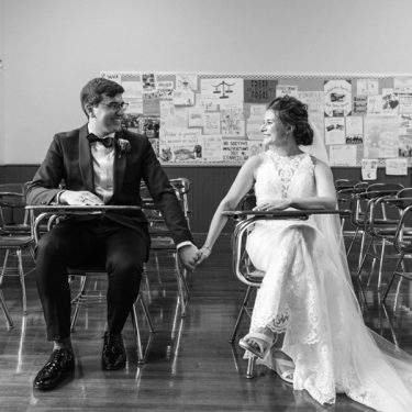 retro wedding at ovation + st. ignatius