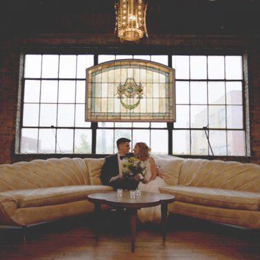 vintage-inspired wedding at salvage one