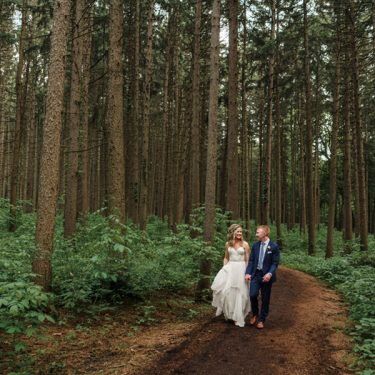 leafy green outdoor wedding at the morton arboretum