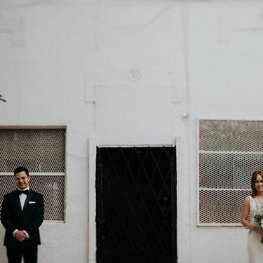 modern romantic wedding at thalia hall