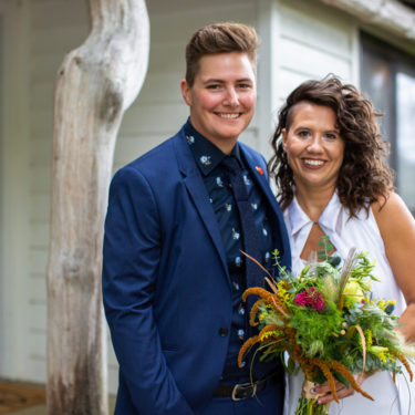 queer family wedding at the apple blossom resort