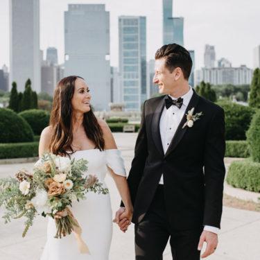 sweet covid wedding ceremony in pilsen